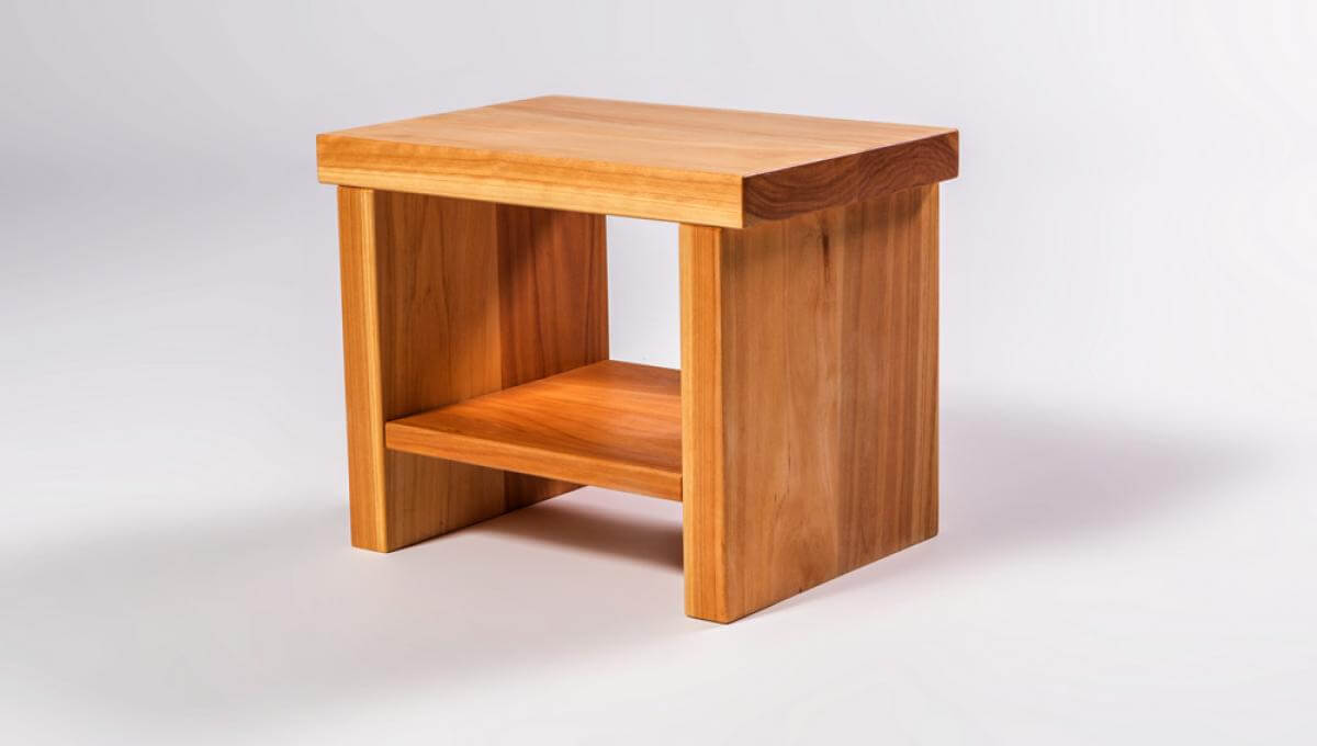 Classic Bedside Table (Macrocarpa Timber)