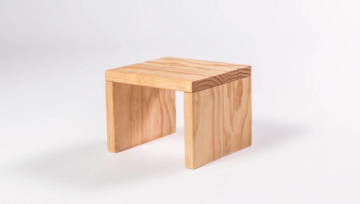 Havana Bedside Table (Pine Timber)