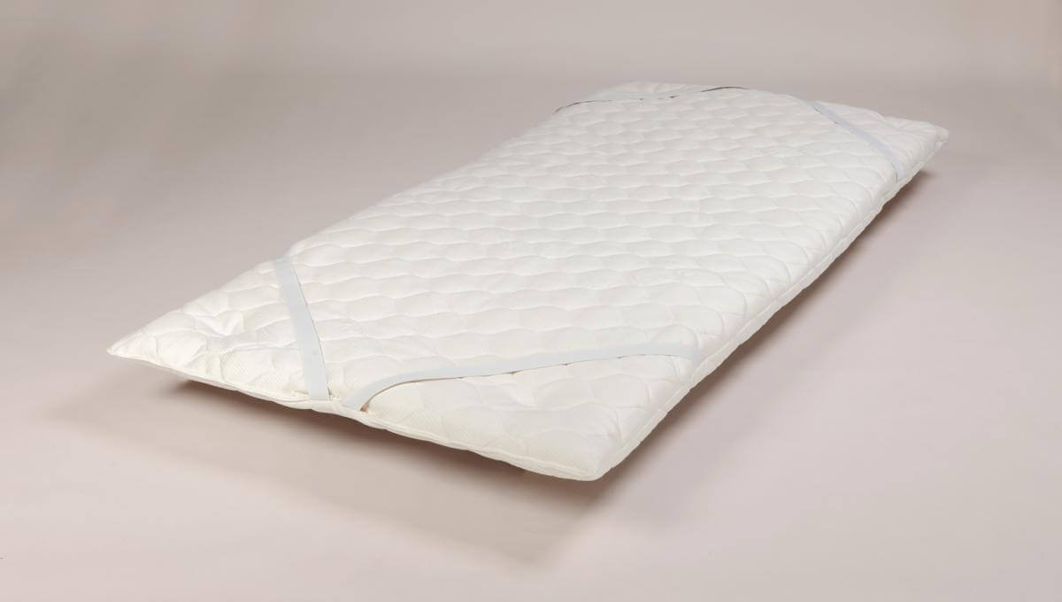 Enhance Quilted Wool Topper Pad (Single Size) showing mattress attachments