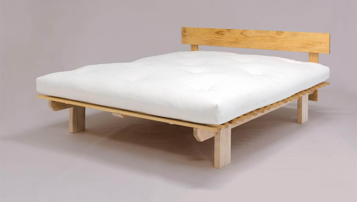 Latex Core Futon mattress and Gypsy Pine Frame Bed Base