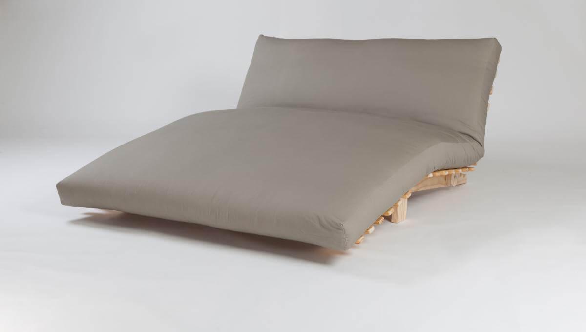 Siesta (with Latex Core Futon, Khaki canvas cover) - Double Size