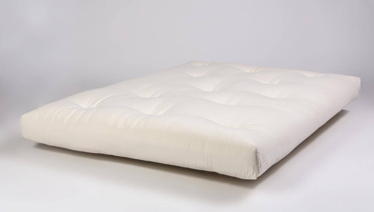 Latex Wool Futon with natural cotton, organic latex and New Zealand Wool