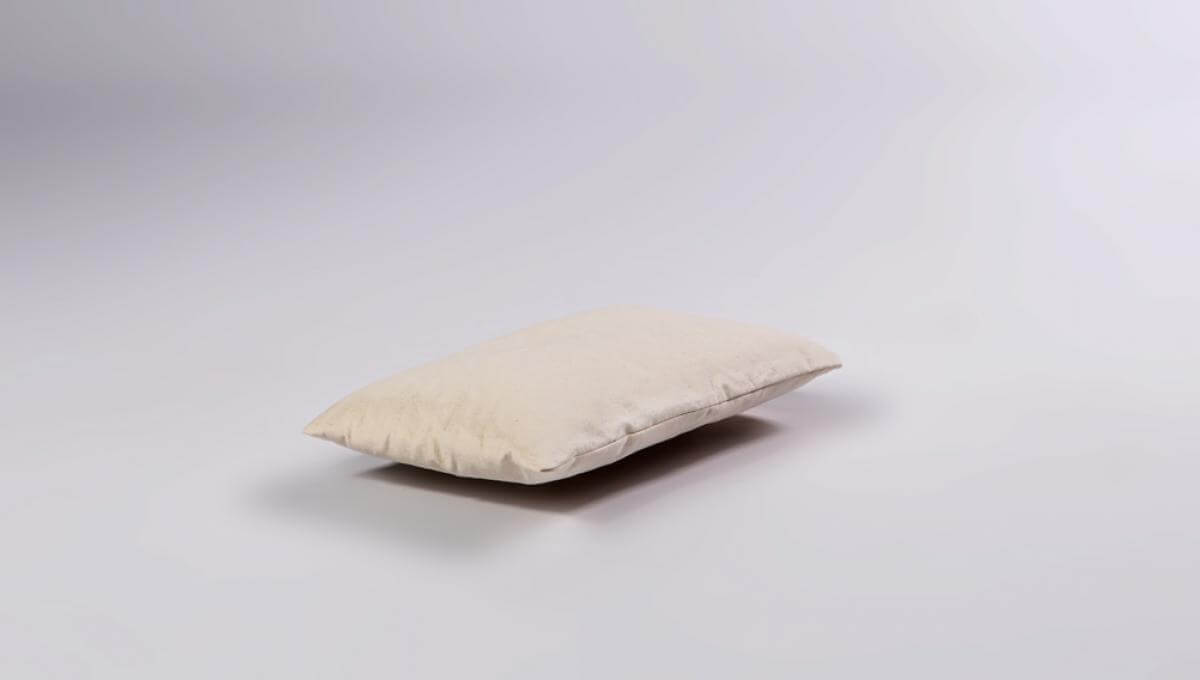 Buckwheat Husk Pillow with Cotton Cover - Small Size