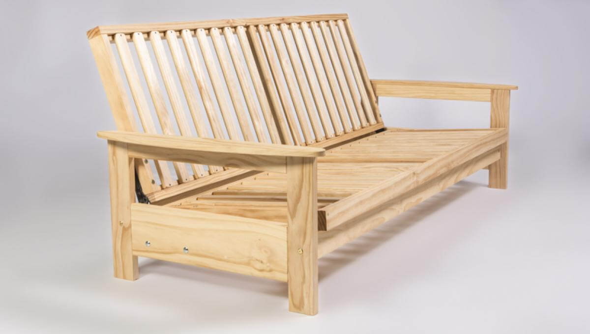 Studio Settee in upright position by Natural Beds