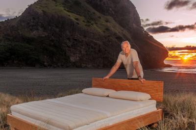 Ralph Behrens (Natural Beds) at Piha, New Zealand.